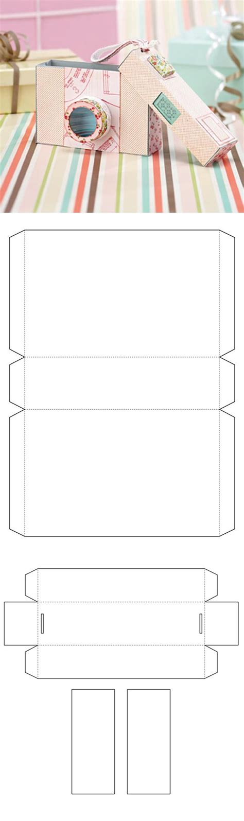 Papercraft Box Template - free gift box template from papercraft