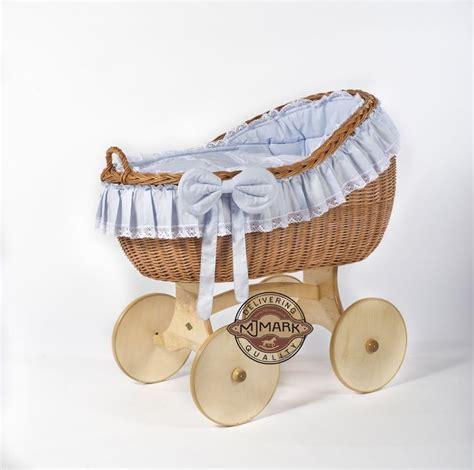 Brand New Wicker Crib Moses Basket Cot Quot Bianca Ant Blue Baby Crib Basket