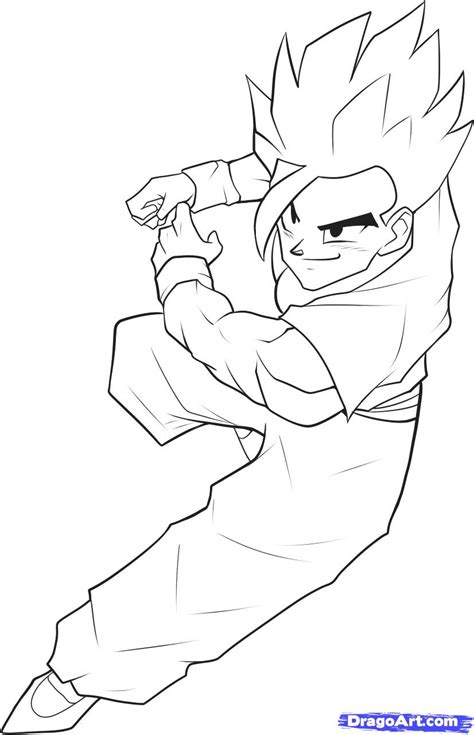 draw son gohan step step dragon ball characters anime draw japanese anime draw