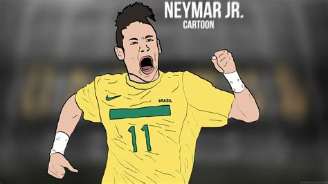 wallpaper neymar cartoon neymar jr cartoon wallpaper by bluezest1997 neymar