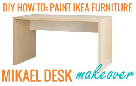 how to paint ikea furniture the lovely side diy how to paint ikea furniture mikael desk makeover