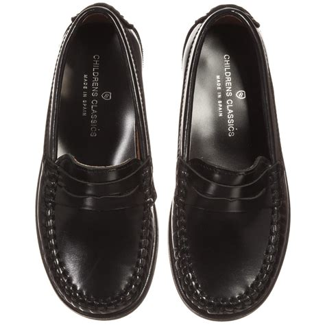 boys leather loafers children s classics boys black leather loafers