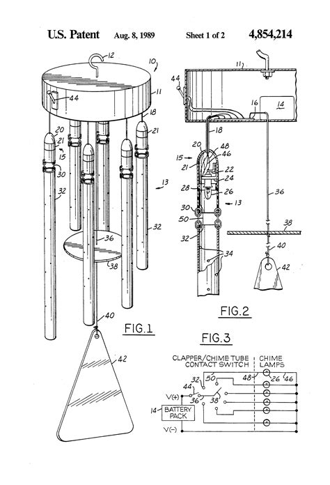 how to draw wind diagram patent us4854214 illuminated wind chime patents