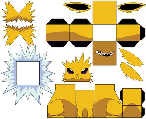 Zapdos Papercraft - jolteon by jetpaper on deviantart