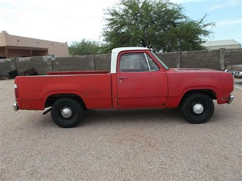 short bed truck cer buy used 1973 dodge d100 short bed 318 auto ex fire