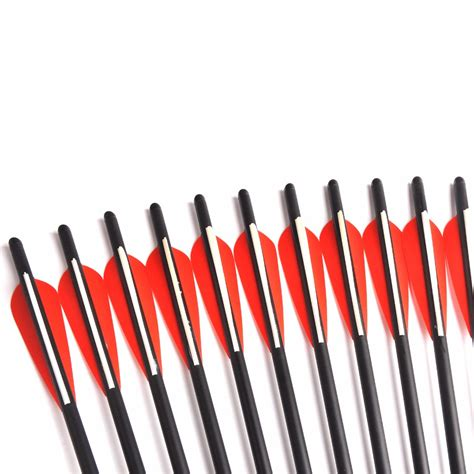 Point Arrow 7 Mm 6 12 24pcs 17 20 inches crossbow archery carbon arrows od 8 8 mm with replaceable point tips