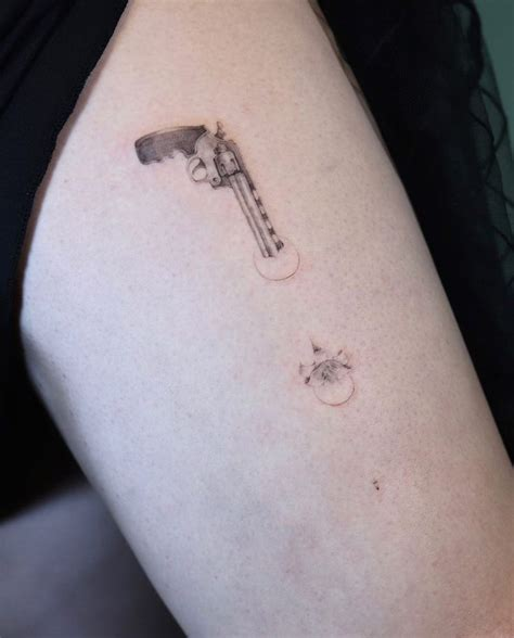 small gun tattoos best 25 small gun ideas on small