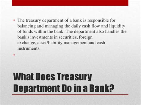 What Is The Purpose Of The Department Of Interior by Treasury Management In Bank