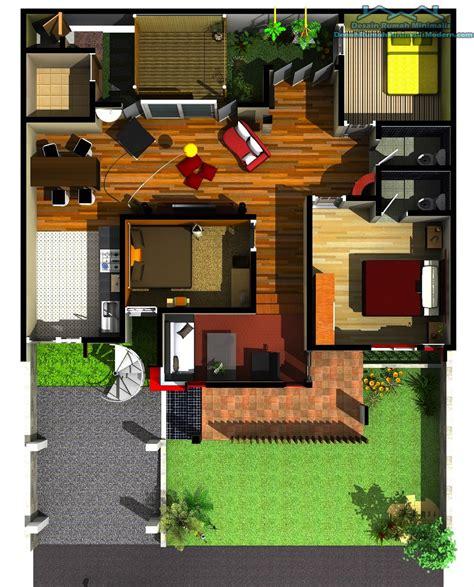 gambar denah rumah minimalis  lantai terbaru  lensarumahcom