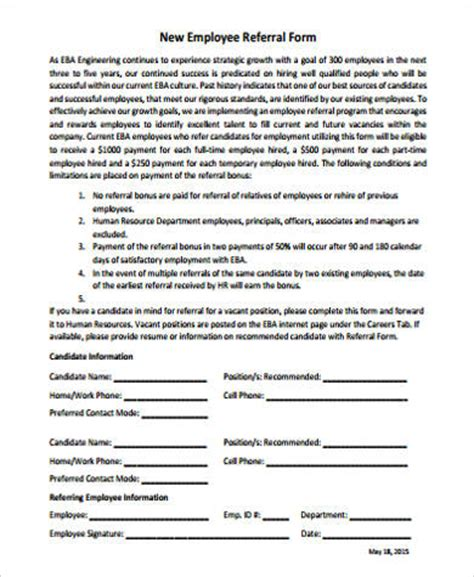 employee referral form template word employee referral form template word baskan idai co