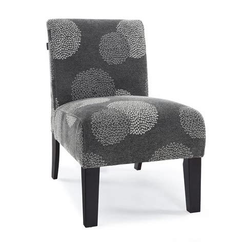 modern accent chairs modern contemporary armless upholstered floral accent