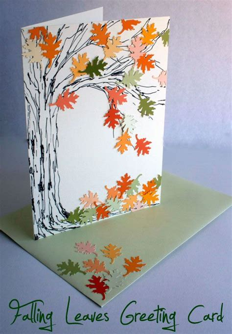 how to make musical greeting cards at home best 25 falling leaves ideas on autumn leaves