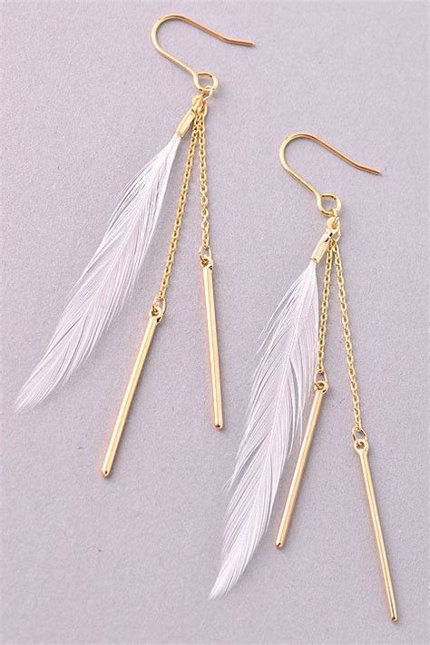 25 best ideas about feather earrings on