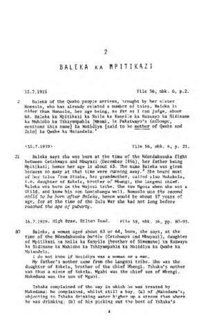 Baleka ka Mpitikezi, Testimony from 'The James Stuart