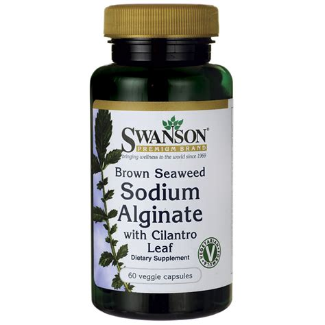 Sodium Alginate Detox by Swanson Premium Brown Seaweed Sodium Alginate 60 Veg Caps