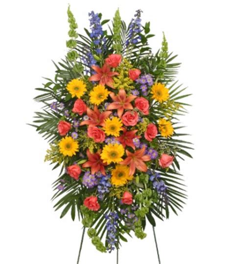 Sprei Flower vibrant floral expression standing funeral spray in