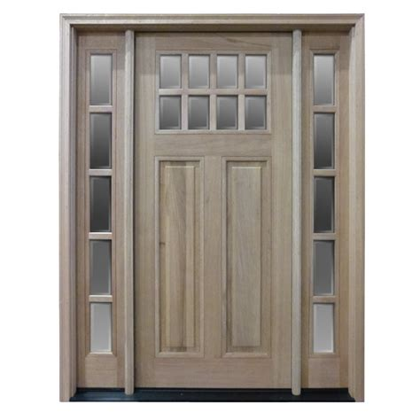 Pre Hung Exterior Door Htc50 Pre Hung 8 Lite Mahogany Exterior Door With 2 Sidelites Home Surplus
