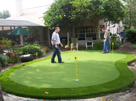 backyard putting green accessories residential putting green traditional landscape