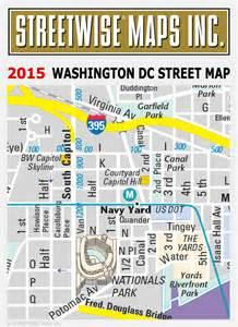 Washington Dc Street Map by Washington Dc Street Map 2015 Streetwise 174 Maps