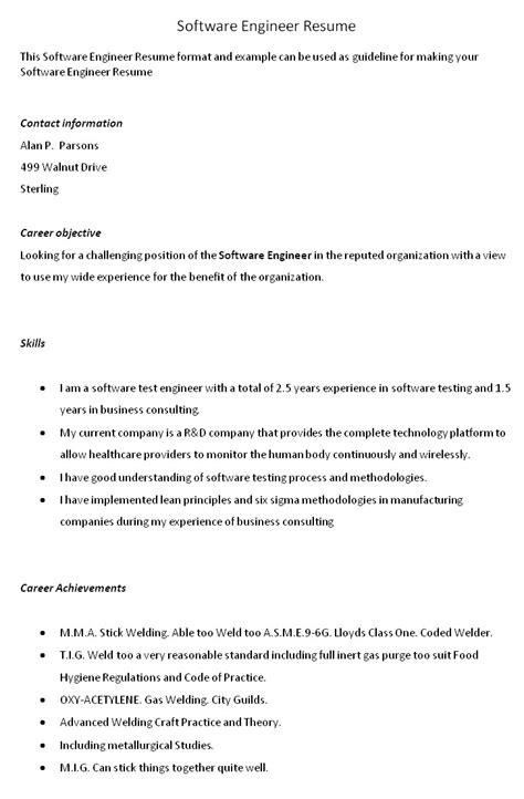 Software Engineer Resume Template Archives Signkeygen