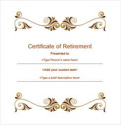 retirement certificate templates retirement certificate template 6 documents in