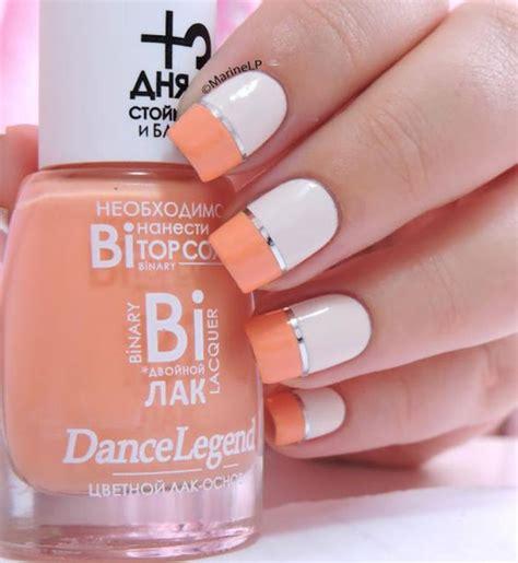 Idã E Dã Co Ongle Blanche by Ongle En Gel Orange Et Blanc