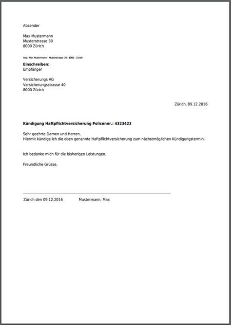 Vorlage K Ndigung Riester Versicherung K 252 Ndigung F 252 R Haftpflichtversicherung Kostenlos Als Pdf