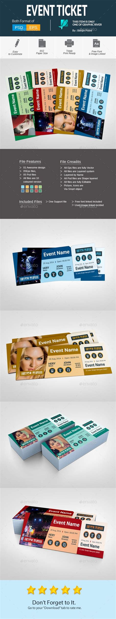 25 best ideas about event ticket template on pinterest