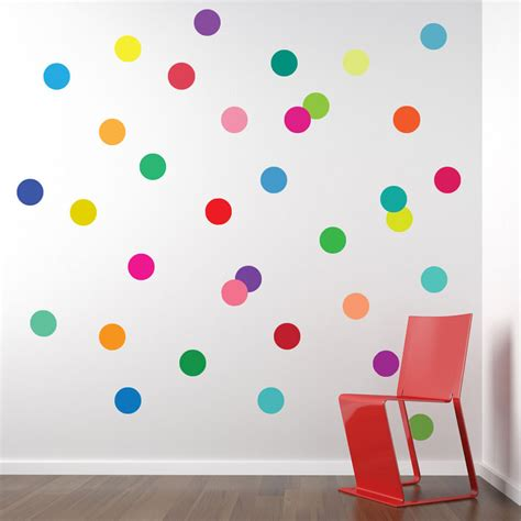 polka dot wall sticker wall decals 36 confetti rainbow of colors polka dots