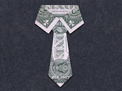Origami Dollar Bill Shirt With Tie - collar tie money origami dollar bill