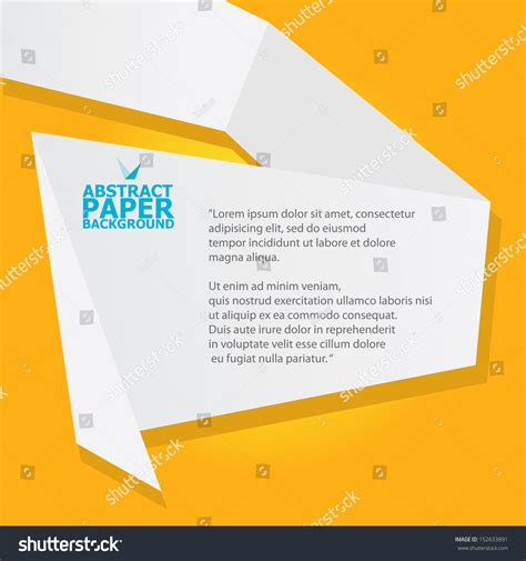 thesis abstract deutsch abstract white origami paper banner on orange background