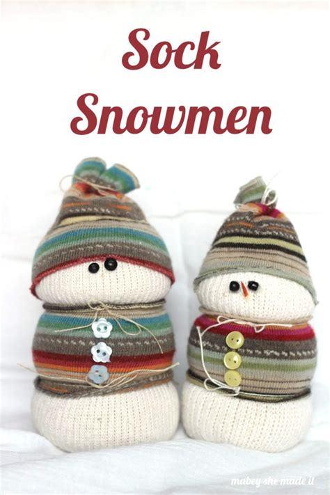 adorable sock snowman sock snowman mabey she made it