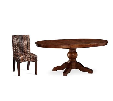 Seagrass Table L by Sumner Extending Pedestal Table Seagrass Chair 5