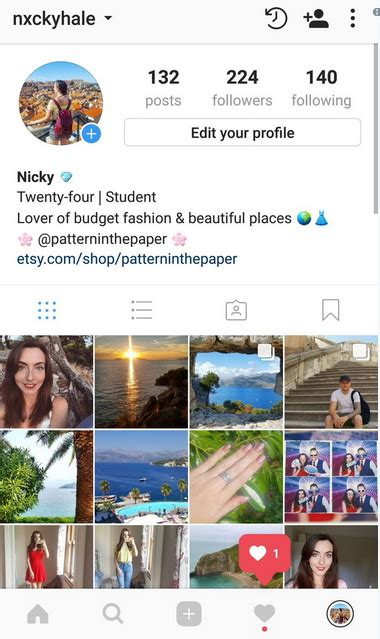layout instagram account instagram with 4 grids how does it look like is it