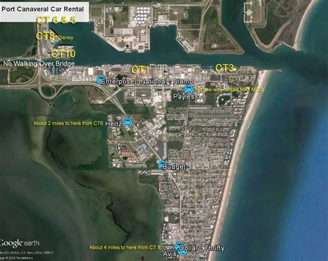Rental Car Port Canaveral by Car Rental Cruise Port Canaveral Orlando Airport