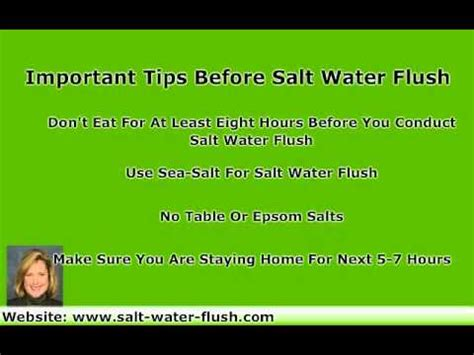 Salt Detox Flush Not Working by Colon Cleansing With Salt Water Flush