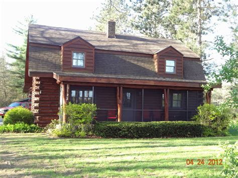 saugatuck area log homes for sale by hanson
