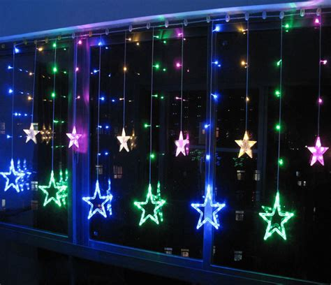 color 12 twinkling star christmas fairy string lights