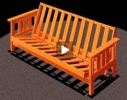 futon sofa bed craftsman style video