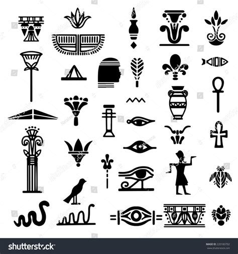 tribal art egyptian ethnic icon egypt stock vector