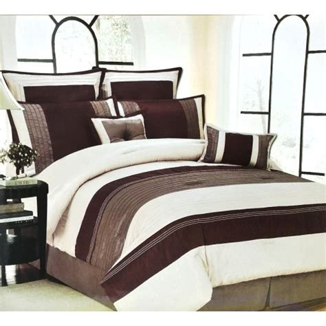 8pc bed in a bag caroline taupe beige brown comforter set