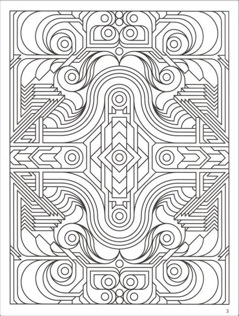 Printable Detailed Pattern Coloring Pages by Highly Detailed Printable Coloring Page Of Geometric