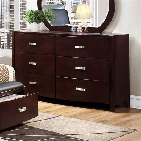 shop homelegance lyric espresso rubberwood 6 drawer