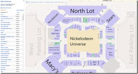 moa map map of mall of america my