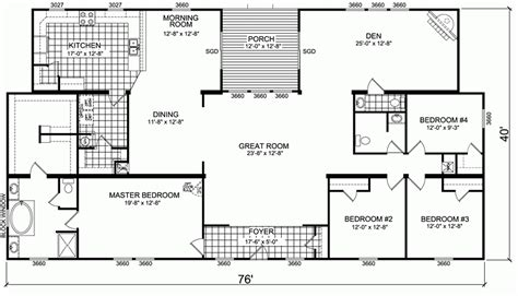 awesome wide manufactured homes floor plans new