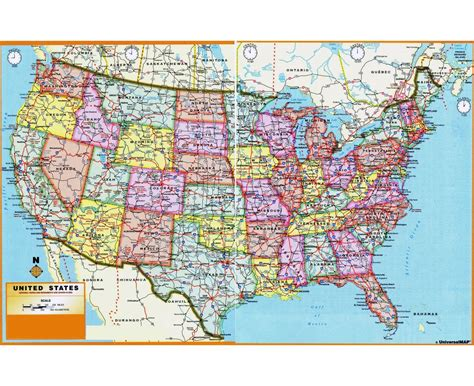 scale map of usa maps of the usa detailed map of the usa the united