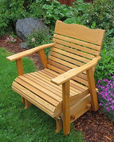 2 Cedar Porch Glider W Stained Finish Amish Crafted Outdoor Furniture Varnish