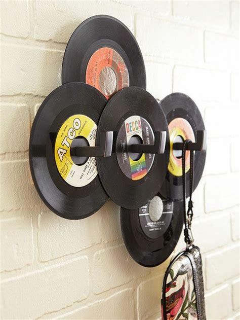 wanddeko mit schallplatten originelle vorschl 228 ge f 252 r deko mit schallplatten