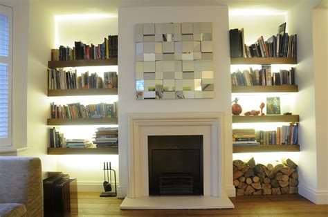Dwell Modern Gas Fire Places With Tv And Bookshelves Great Bookshelves