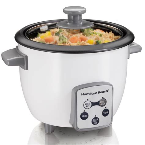 Rice Cooker Digital Quantum hamilton rice cooker 6 cup cooked 37506